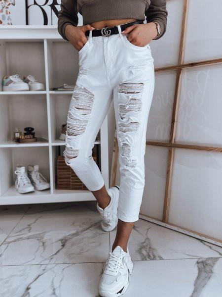 Moteriški džinsai (balts krāsa) Delina