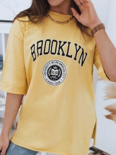 Moteriški marškinėliai(Dzeltens) Emily