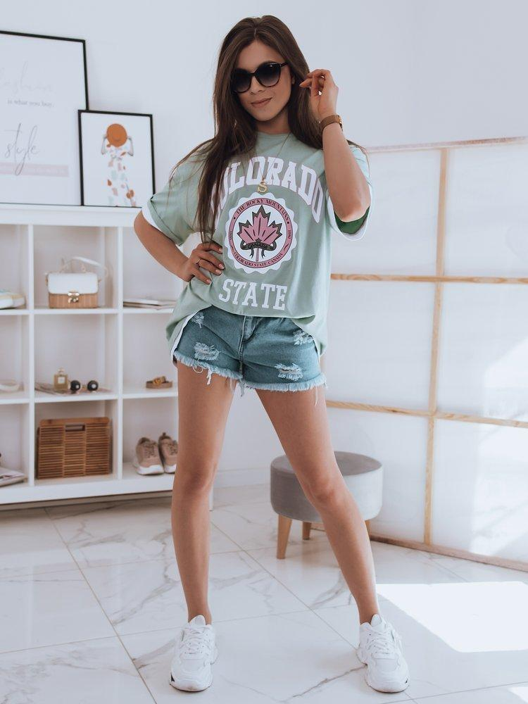 Moteriški marškinėliai (piparmētras krāsa) Ninna