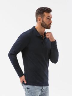 T-krekls ar garām piedurknēm (tumši zils) Jeferson
