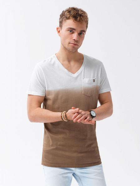 Vīriešu klajums t-shirt S1380 - brown Harrison