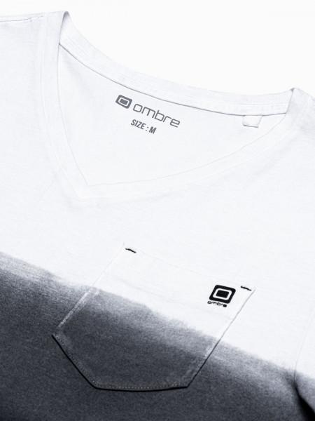 Vīriešu klajums t-shirt S1380 - melns Rowan