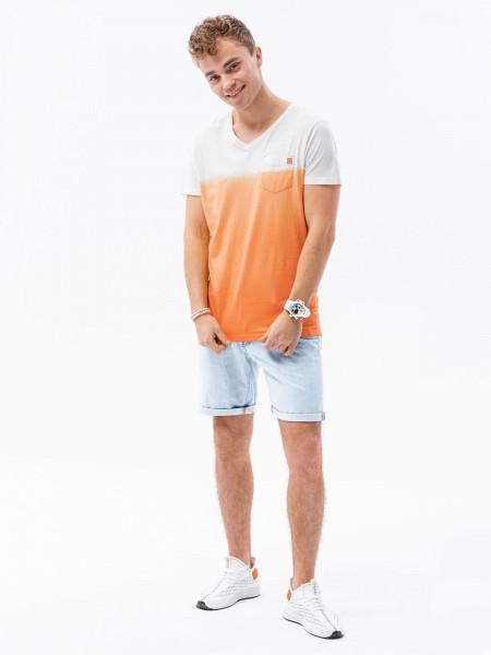 Vīriešu klajums t-shirt S1380 - orange Bennett