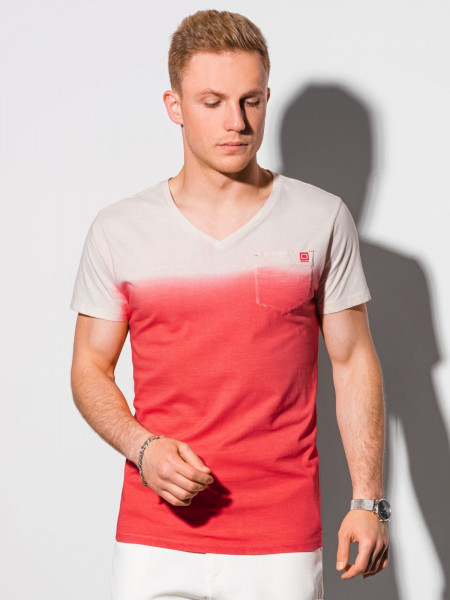 Vīriešu klajums t-shirt S1380 - sarkans Evan