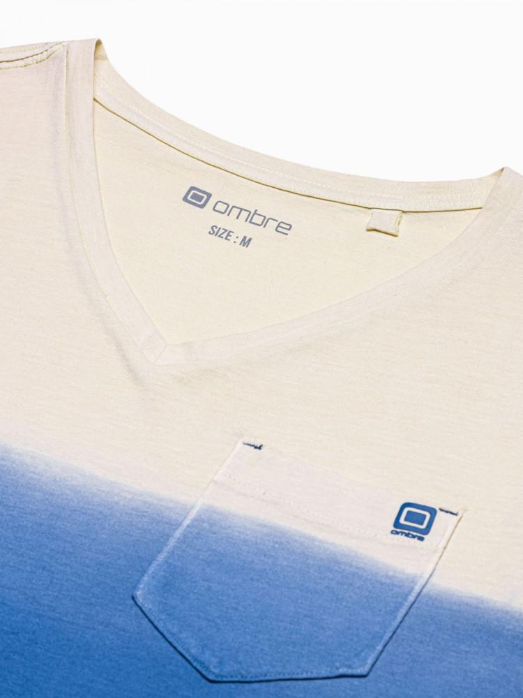 Vīriešu klajums t-shirt S1380 - tumši zils Waylon