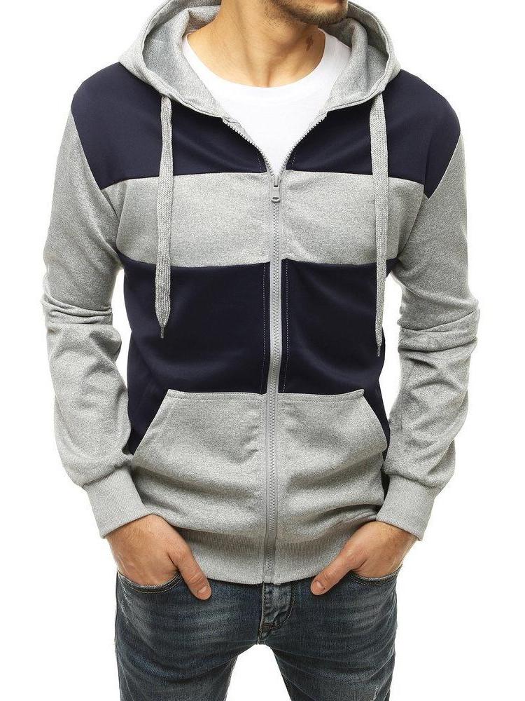 Vīriešu džemperis (gaiši pelēka krāsa) Enrico