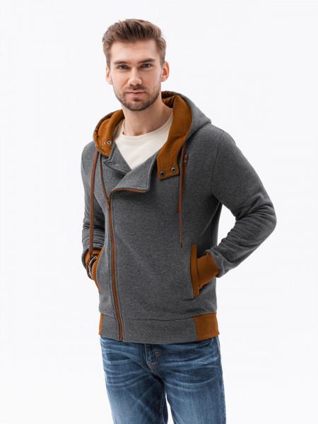 Vīriešu džemperis Desmond (Pelēks krāsa) + (brūns krāsa)