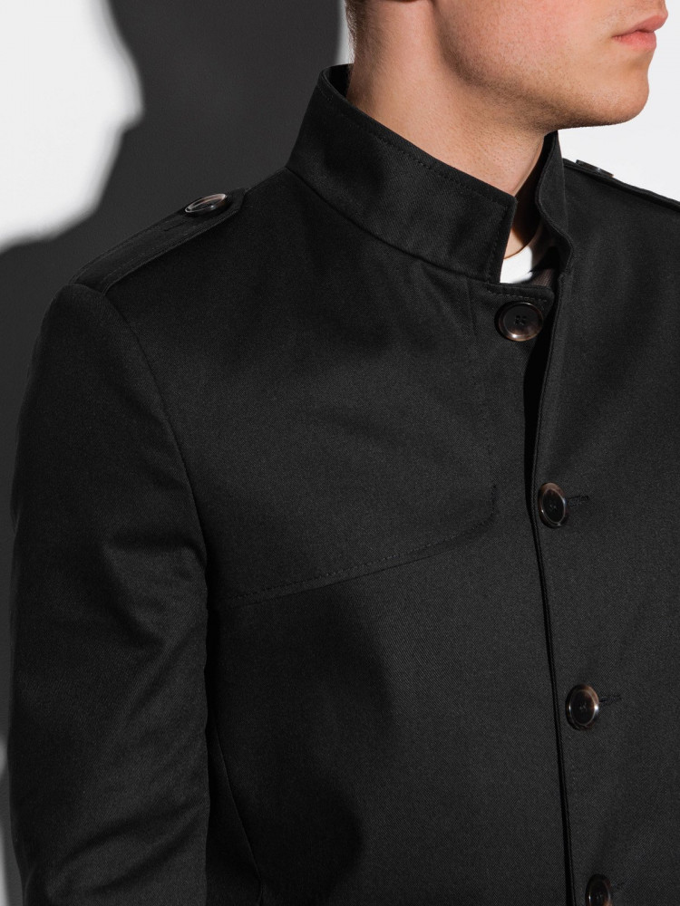 Vīriešu mētelis Keary (melna krāsa)