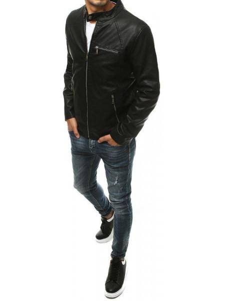 Vīriešu odinė jaka (Melns) Alan