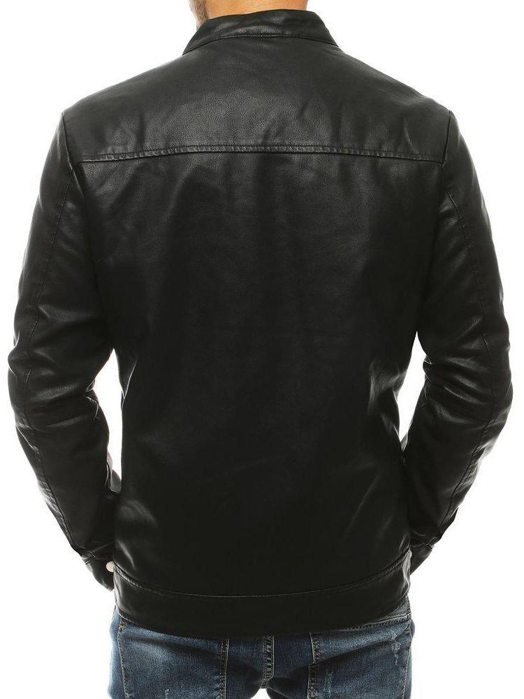 Vīriešu odinė jaka Luck (Melns)