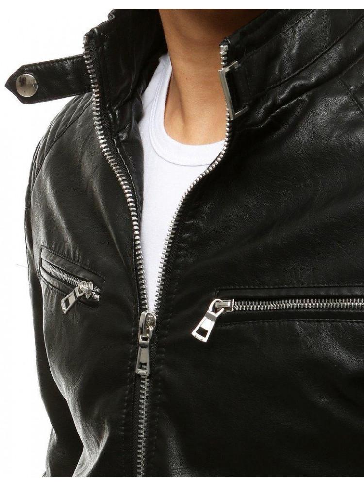 Vīriešu odinė jaka (Melns) Mark