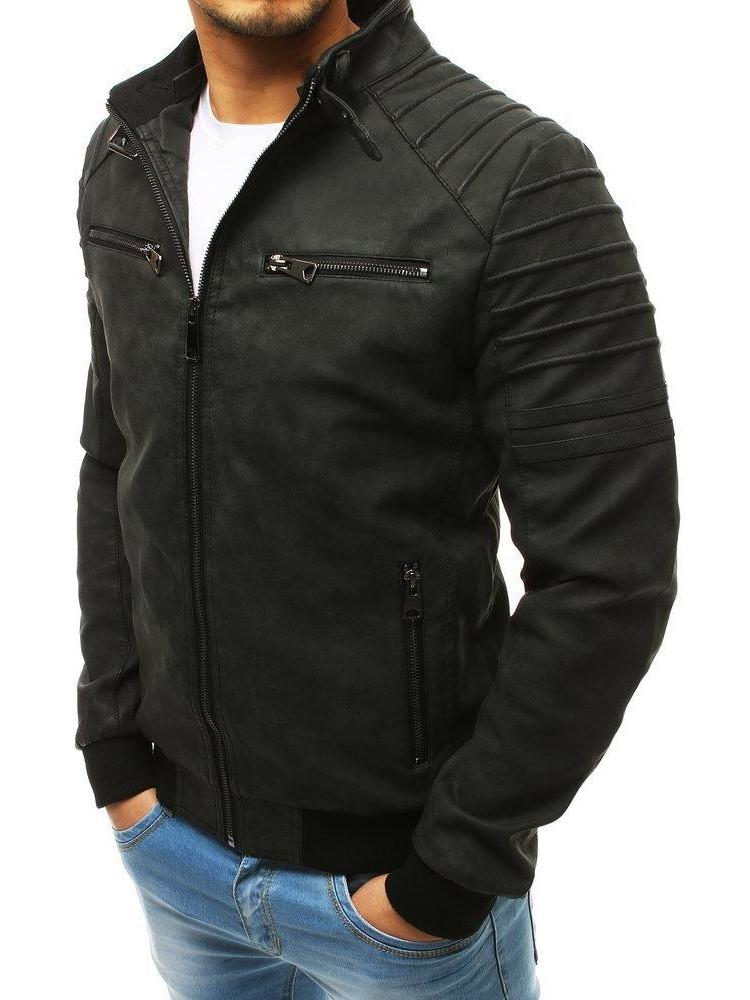 Vīriešu odinė jaka (Melns) Cryton