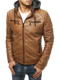 Vīriešu odinė jaka Hugo (Karamelinė)