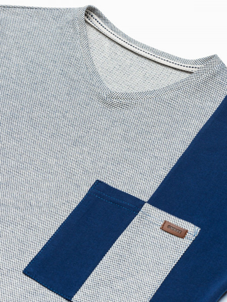 Vīriešu klajums t-shirt S1455 - navy Landon