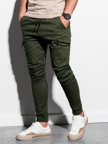 Vīriešu bikses (haki krāsa) Grego