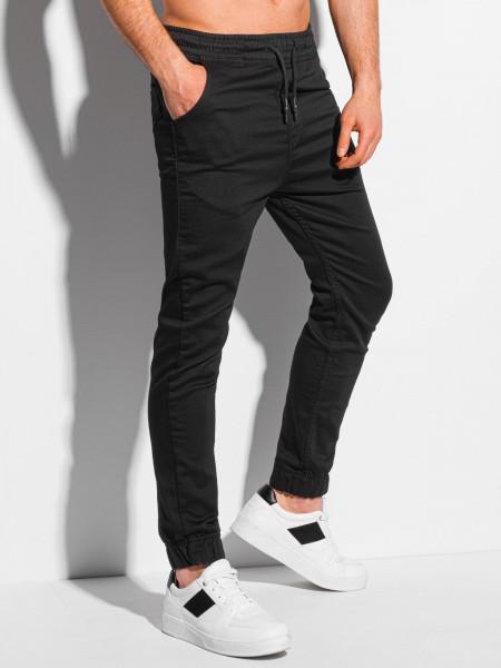 Men's pants joggers P1037 - black
