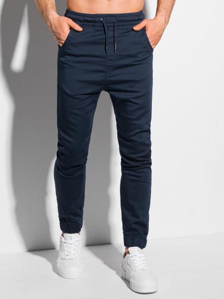 Men's pants joggers P1037 - navy