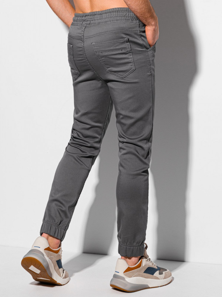 Men's pants joggers P1037 - dark grey